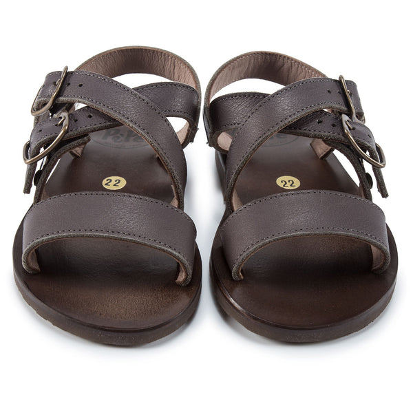 Girls Brown Flat Sandals