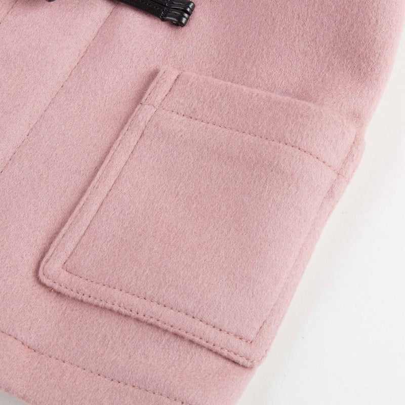 Baby Girls Pale Pink Wool Duffle Coat