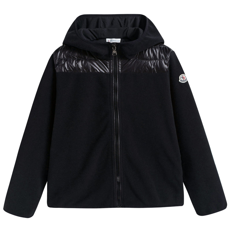 Boys & Girls Black Zip-up Jacket