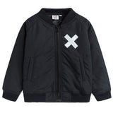 Boys & Girls Black Logo Jacket