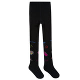 Girls Black Logo Tights