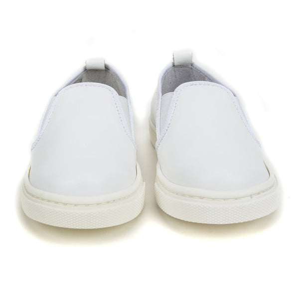 Girls White Lather Shoes