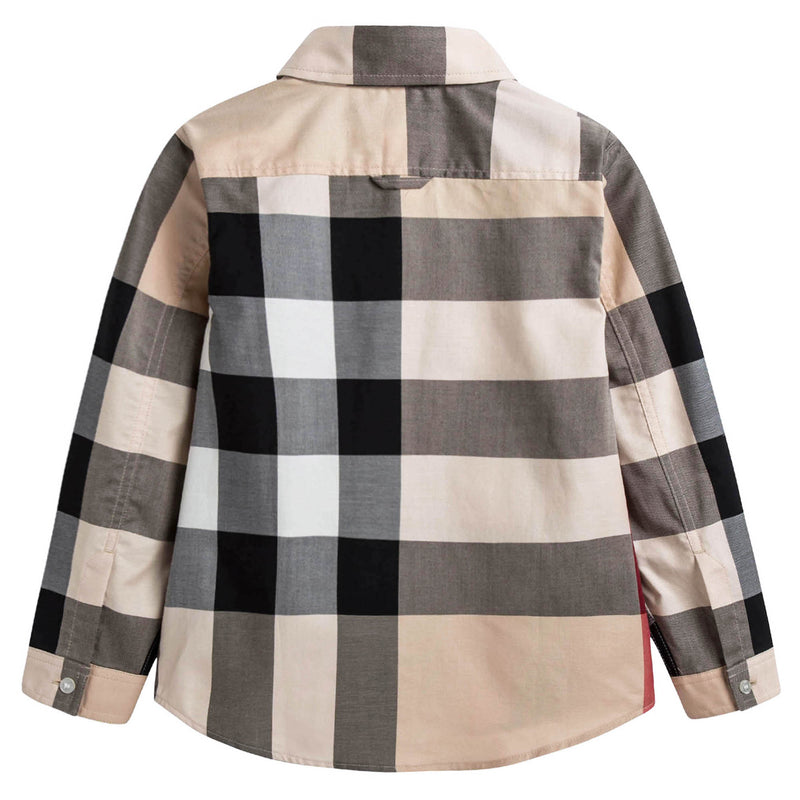 Boys New Classic Check Cotton Shirt
