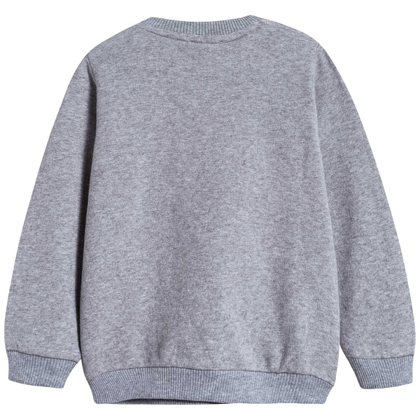 Baby Melange Grey Cotton Sweatshirt