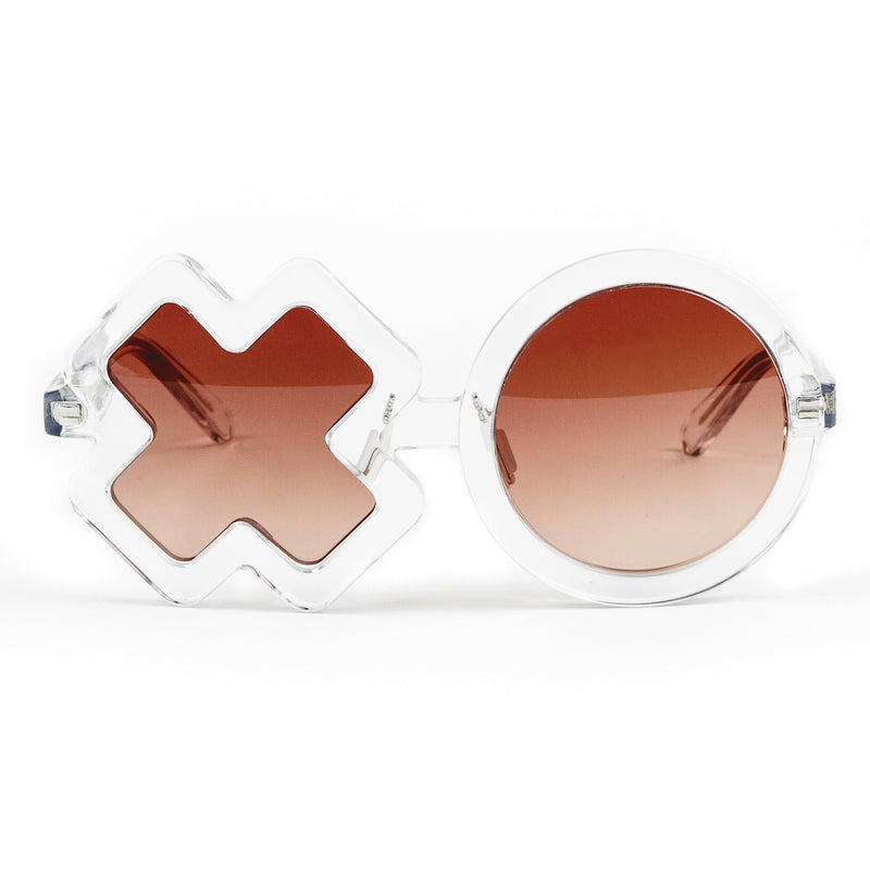 'XO' Clear Sunglasses