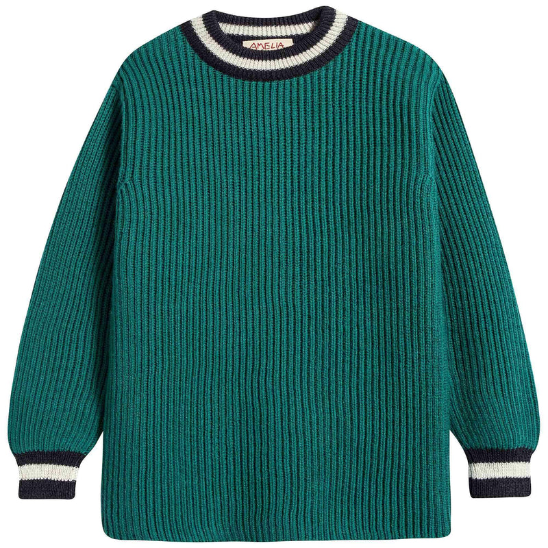 Girls & Boys Fisherman Rib Sweater
