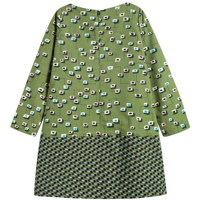 Girls Double Prints Dress