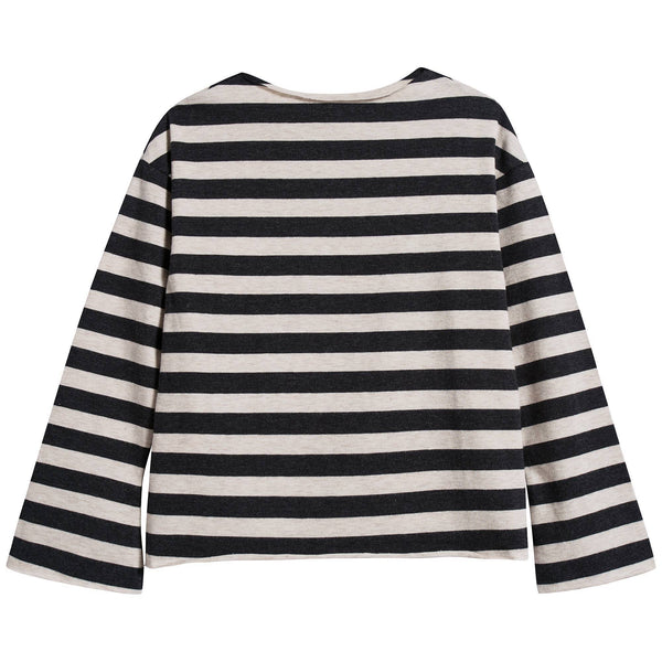 Girls & Boys Stripes Flared Sleeves T-shirt