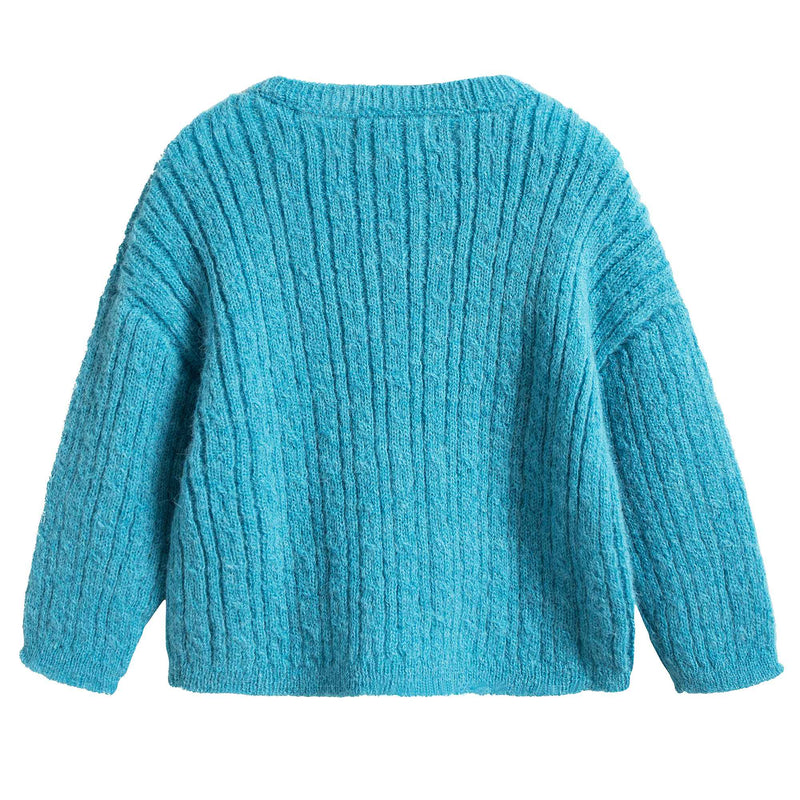 Girls Blue Knitted Sweater