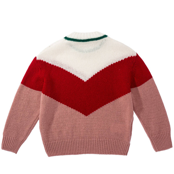 Girls Rose Pink Wool Sweater