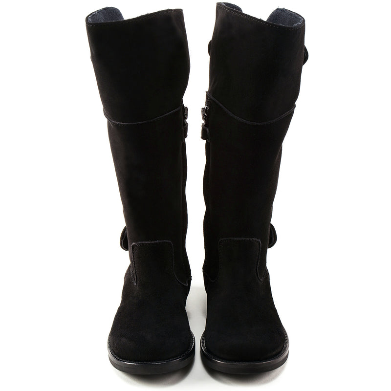 Girls Black  High-help Boots  Shoes