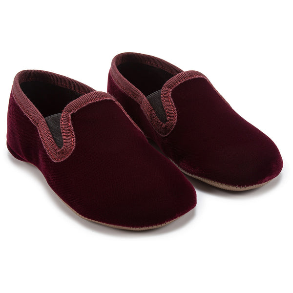Girls Bordeaux Velluto Shoes