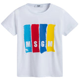 Boys White Logo Jersey T-shirt