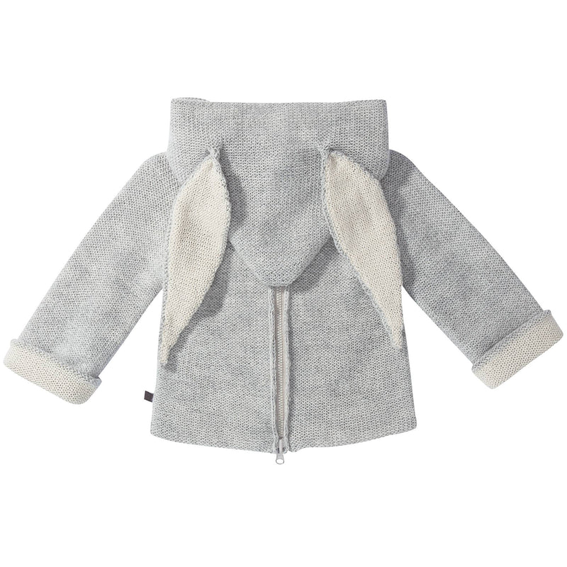 Baby Grey Rabbit Alpaca Hooded Animal Sweater