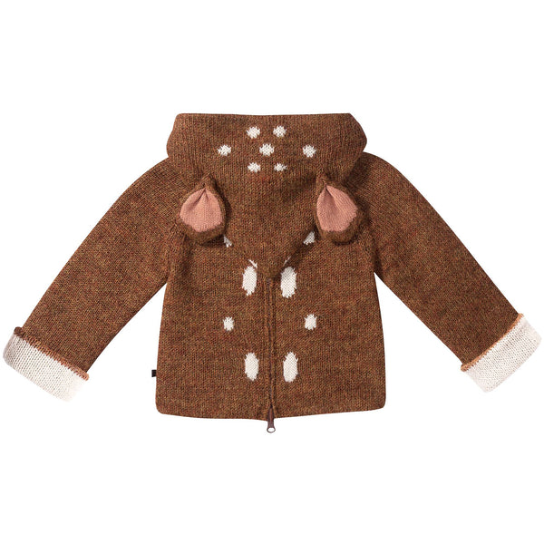 Baby Brown Bambi Alpaca Hooded Animal Sweater