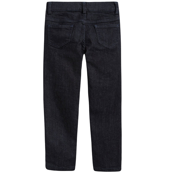 Girls Blue Cotton Denim Trousers