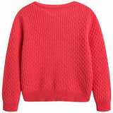 Girls Red Cashmere Cardigan - CÉMAROSE | Children's Fashion Store - 2