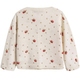 Baby Girls Lvory With Red Flowers Wool Cardigan - CÉMAROSE | Children's Fashion Store - 2