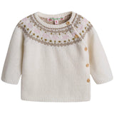 Baby Girls Ivory Wool Sets - CÉMAROSE | Children's Fashion Store - 3