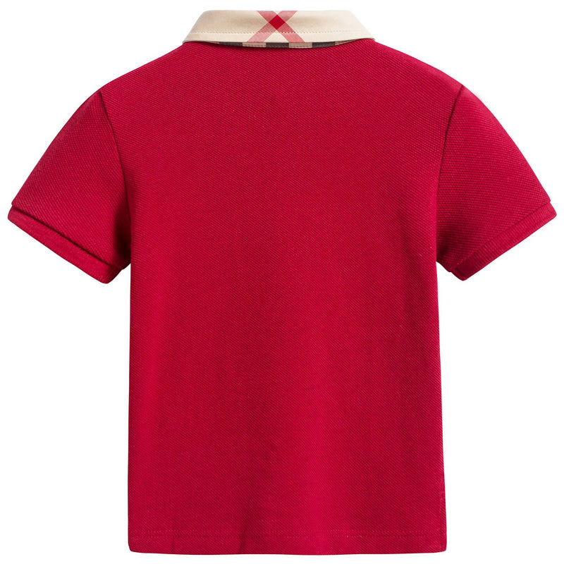 Boys Military Red Cotton Polo Shirts