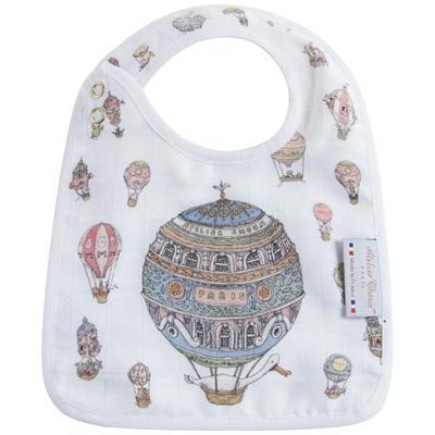 Small Bib Hot Air Balloons - Gold Snaps