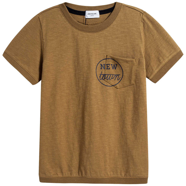 Girls Camel Cotton T-shirt