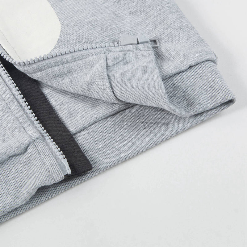 Baby Boys Grey Penguin Cotton Zip-up Top