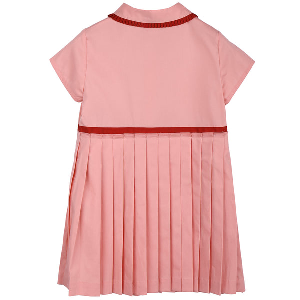 Baby Girls Pink Pleated Dress