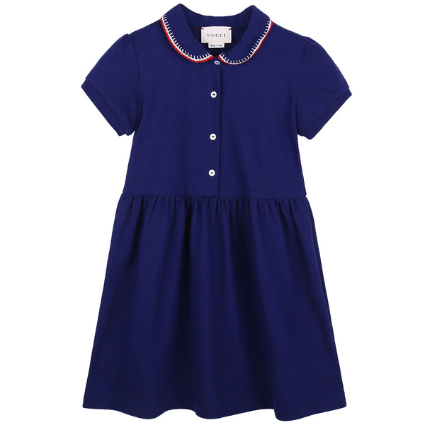 Baby Girls Blue Polo Dress