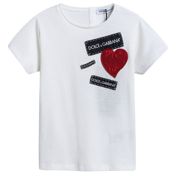 "Baby  Girls   White   ""LOVE""   Cotton   T-shirt"