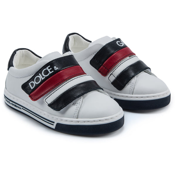 Girls White Velcro Shoes
