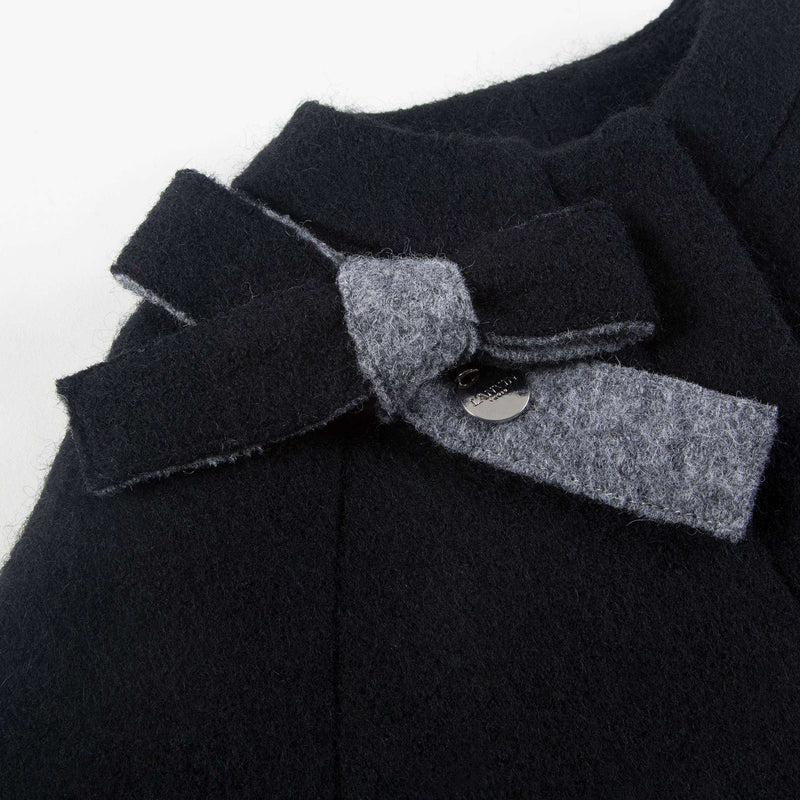 Girls Blue  Grigio  Wool  Cape