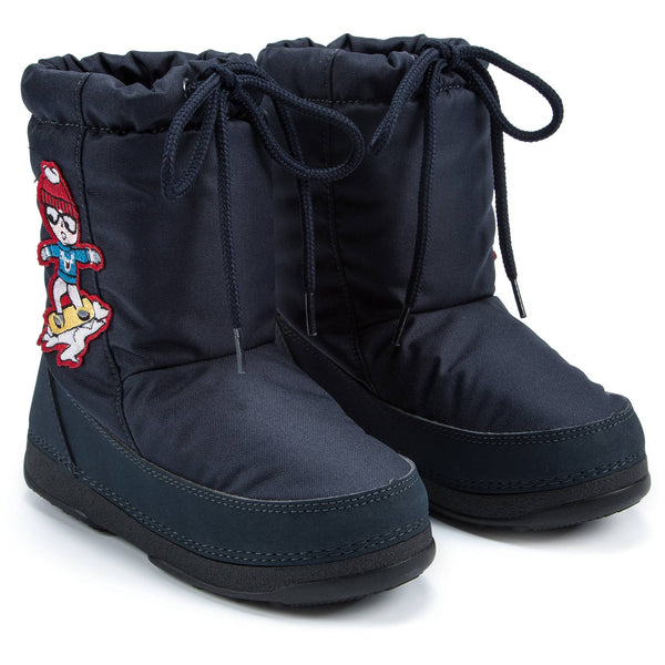 Girls Sky Blue Snow Boots