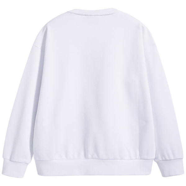 Boys & Girls White Cotton Sweater
