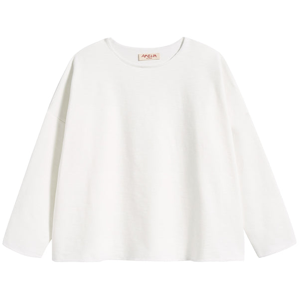 Girls White Cotton Sweater