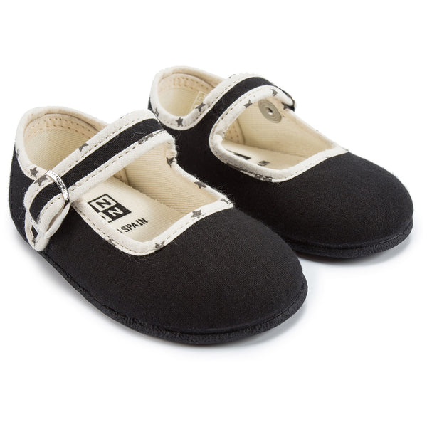Baby Black Cotton Shoes