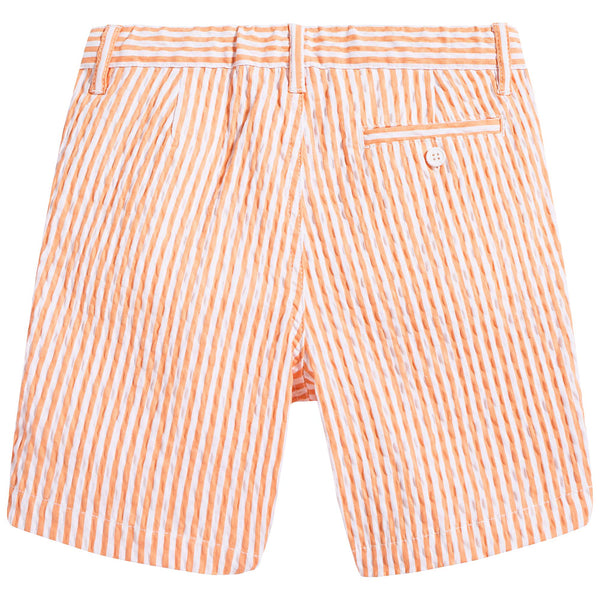 Boys Orange & White Stripe Cotton Shorts
