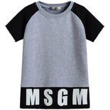 Boys Grey Short Sleeve Logo Sweatshirt