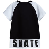 Boys Black Short Sleeve Logo Sweatshirt