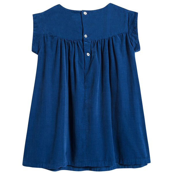 Girls Blue Klein Cotton Dress