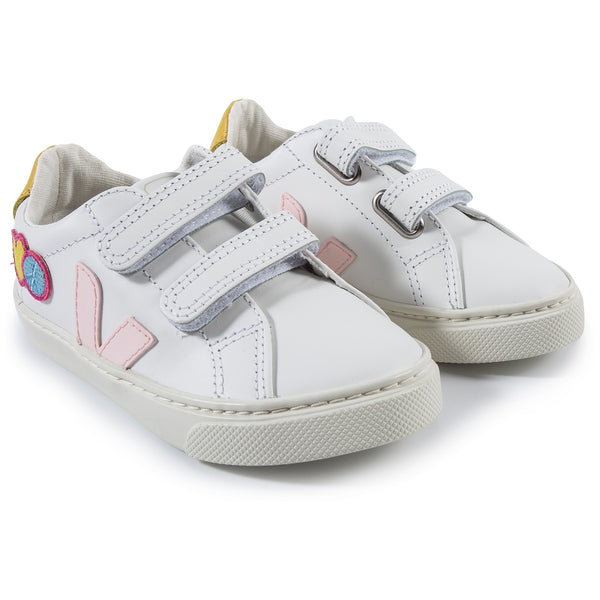 Baby Girls White Leather Shoes