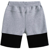 Boys Grey & Black Logo Shorts