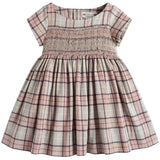 Girls Pink Checked Dress