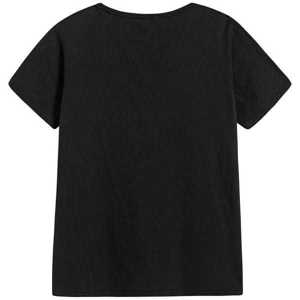 Baby Black Cotton T-shirt