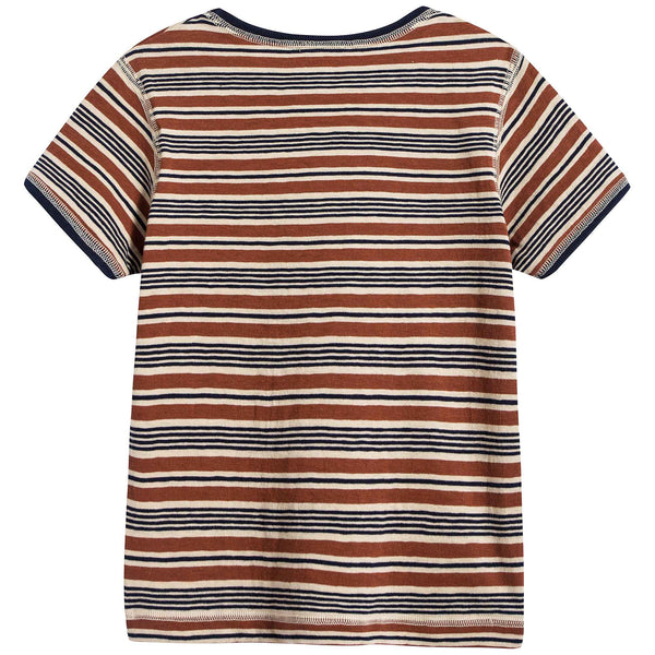 Baby Toffee Stripes Cotton T-shirt