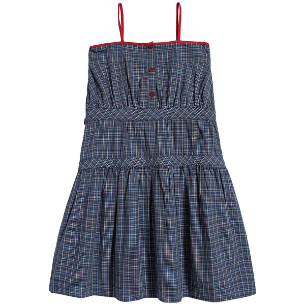 Girls Oxford Blue Cotton Dress