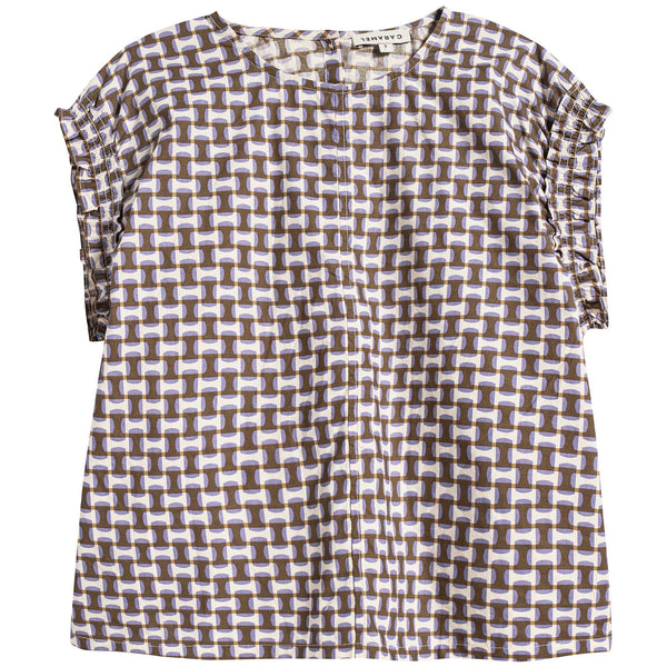Girls Lilac Print Cotton Top