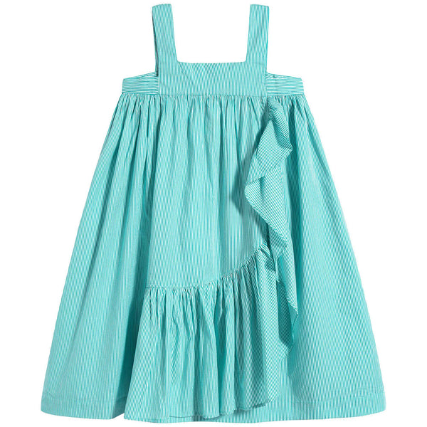 Girls Mint Cotton Dress