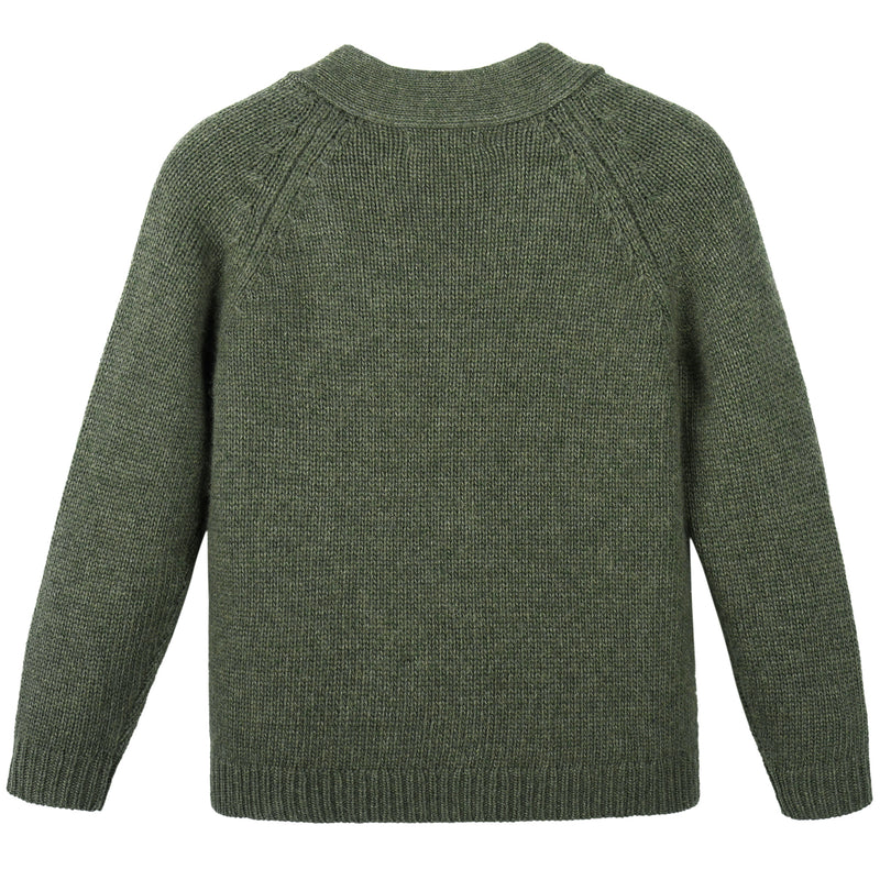 Girls Green Knitted Cardigan
