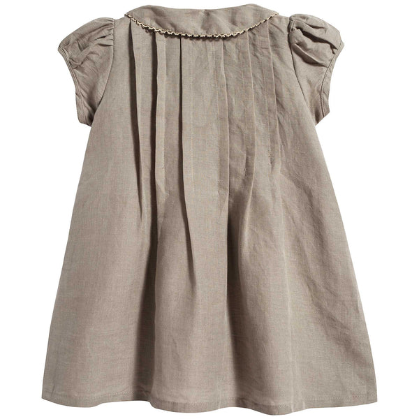 Baby Girls Stone Grey Dress